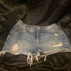 Jean shorts worn once